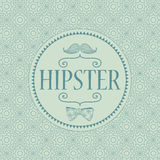 Hipster decorative card Stock Photo