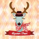 Hipster deer poster Royalty Free Stock Photos