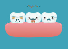 Hipster of dental gang Royalty Free Stock Photography