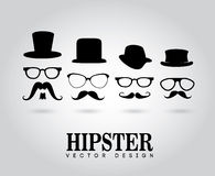 Hipster design. Over gray background vector illustration stock illustration