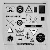 Hipster design elements set Royalty Free Stock Photo