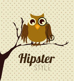 Hipster design, vector illustration. Royalty Free Stock Images