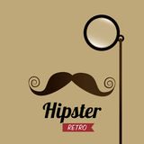 Hipster design,vector illustration. Stock Photos