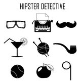 Hipster detective icon vector Stock Photos