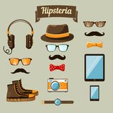 Hipster devices icons set Royalty Free Stock Photo