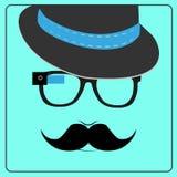 Hipster die slimme glazen dragen Stock Foto