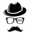 Hipster disguise set. Vector illustration for your cool design, eps10 Royalty Free Stock Image