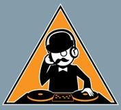 Hipster DJ Royalty-vrije Stock Foto's