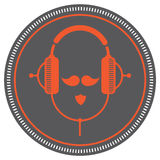 Hipster DJ man icon. Royalty Free Stock Photos