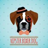 Hipster dog portrait Stock Photo