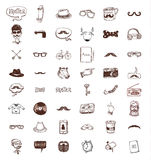 Hipster doodle set, hand drawn illustration Stock Photography