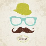 Hipster doodle vintage hand-drawn man Stock Photos