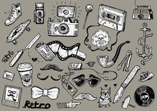 Hipster doodles Stock Photo