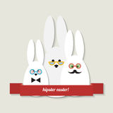 Hipster easter greeting card Stock Photos