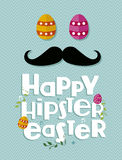 Hipster easter greeting card Stock Photo