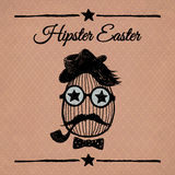 Hipster Easter vintage poster with egg. royalty free stock images