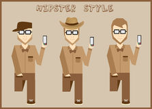 Hipster elements and icons collection with vintage and retro style character Royalty Free Stock Photo