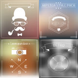 Hipster elements and icons collection with vintage and retro style Stock Photo