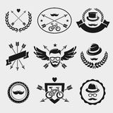 Hipster elements and labels set. Vector Royalty Free Stock Photography