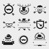 Hipster elements and labels set. Vector Stock Photography