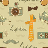 Hipster elements seamless pattern Royalty Free Stock Photography