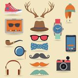 Hipster elements set Royalty Free Stock Image