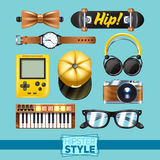 Hipster Elements Set Stock Image
