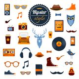Hipster Elements Set Stock Images
