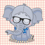 Hipster Elephant Royalty Free Stock Image