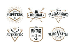Hipster Emblems Stock Images