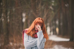 Hipster. Emotions. Stock Photography