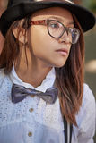 Hipster in eyeglasses Stock Photography