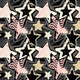 Hipster för färgpulver för sömlöst hantverk för hand för stjärnaformgrafitti uttrycksfull stock illustrationer