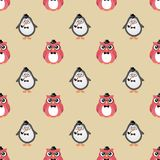 Hipster Fashion Birds Seamless Background stock illustration