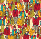 Hipster fashion crowd people color Royalty Free Stock Image