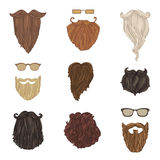 Hipster fashion man beards and eyeglasses. Stock Photo