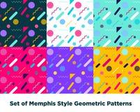 Hipster Fashion Memphis Style Geometric Pattern Royalty Free Stock Photo