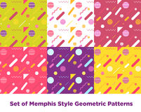 Hipster Fashion Memphis Style Geometric Pattern Royalty Free Stock Image