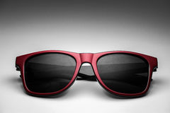 Hipster fashion red sun glasses color Royalty Free Stock Photo