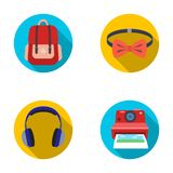 Hipster, fashion, style, subculture .Hipster style set collection icons in flat style vector symbol stock illustration.  Stock Images