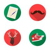 Hipster, fashion, style, subculture .Hipster style set collection icons in flat style vector symbol stock illustration Stock Image