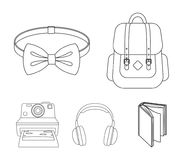 Hipster, fashion, style, subculture .Hipster style set collection icons in outline style vector symbol stock. Illustration Royalty Free Stock Photo