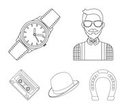 Hipster, fashion, style, subculture .Hipster style set collection icons in outline style vector symbol stock. Illustration Stock Photos