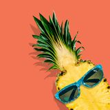 Hipster. Fashion summer background beach fruit pastel Royalty Free Stock Photos