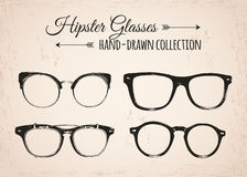 Hipster fashion vintage elements hand-drawn Royalty Free Stock Photo
