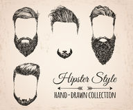 Hipster fashion vintage elements hand-drawn Royalty Free Stock Images