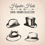 Hipster fashion vintage elements hand-drawn mega Royalty Free Stock Images
