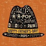 Hipster Father`s Day greeting card or banner. Royalty Free Stock Images