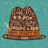 Hipster Father`s Day greeting card or banner. Royalty Free Stock Image
