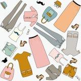 Hipster_fation_seamless stock de ilustración